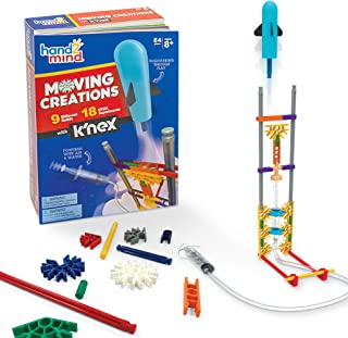 hand2mind Moving Creations with K'NEX, STEM Science Kit for Kids, Book & Building Set, 9 Models & 18 Experiments to Learn About Engineering, STEM.org Authenticated & Award Winning, Ages 8+