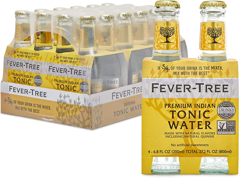 Tónica Fever-Tree, Premium Indian Tonic Water - Botellas de cristal de 200 ml (24 unidades)
