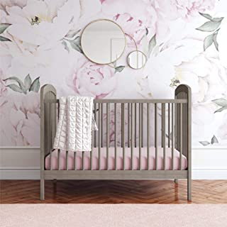 Baby Relax Baby Relax Mydland Small Space Nursery 3-in-1 Convertible Wood Baby Crib, Coastal Gray, Gray