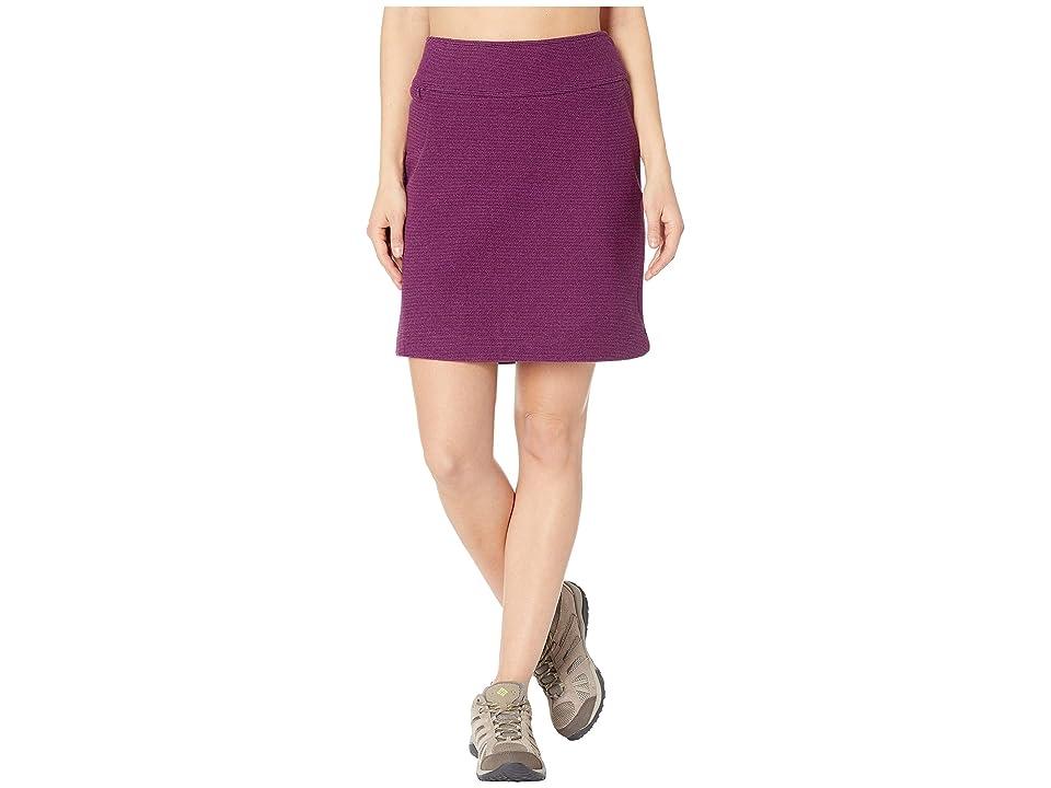 White Sierra Blacktail Fleece Skirt (Sparkling Grape) Women