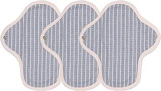 (グナレン) GNARAN そよ風シリーズ 布ナプキン コットン100% 羽根あり タイプ3枚セット 天然成分 防水 (コットンブルー Sサイズ) [並行輸入品]