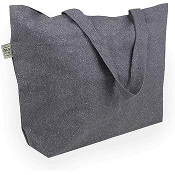 YBCPACK 6 bolsas reutilizables para comestibles con asas, bolsas para compras no tejidas, capacidad para 20 kg, bolsas de la compra plegables extra grandes y duraderas (negras, 38,1 x 25,4 x 35,5 cm): Amazon.es: Hogar