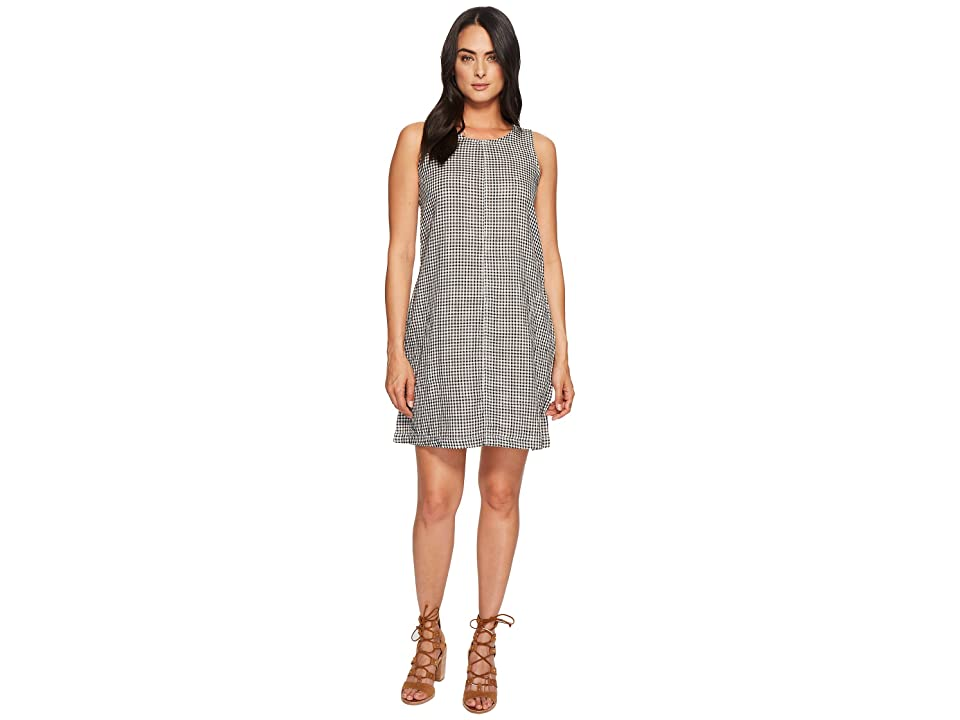 Dylan by True Grit Whitney Gingham Dress with Pockets (White/Black) Women