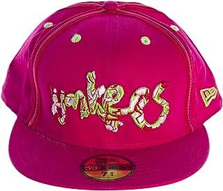 half off e1ad5 8417f New Era 59FIFTY Graffiti Style Yankees Fitted Hat Sz 8 Magenta
