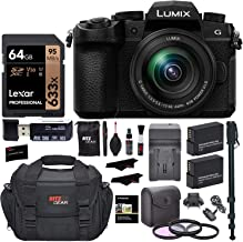 Panasonic Lumix G95MK Mirrorless Camera with 12-60mm f/3.5-5.6 Lens, Lexar 64GB Memory, 2 Spare Batteries with Charger, Monopod, Card Reader, Filter Kit, Cleaning Kit, Bag and More