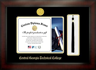 Celebration Frames Central Georgia Technical College 8½ x 11 Mahogany Finish Infinity Diploma Frame with Tassel Box
