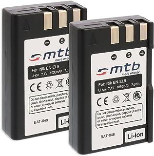 2X Baterías EN-EL9 para Nikon D40 D40x D60 D3000 D5000