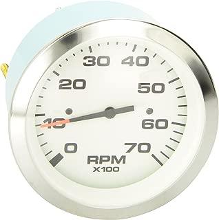 Sierra International 62547P White Premier Pro Electric Tachometer for Diesel Alternator 3 3 Teleflex