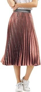 Best metallic pleated skirt pink Reviews
