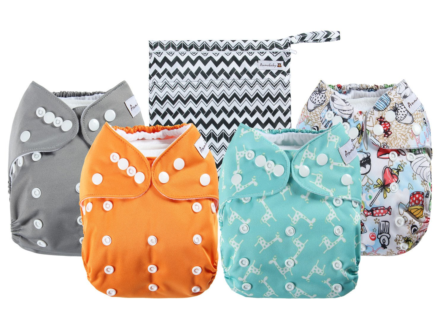 Anmababy Adjustable Waterproof Washable Diapers