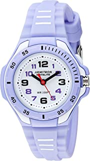 Armitron Sport Women's 25/6433PUR Easy to Read Light Purple Silicone Strap Watch