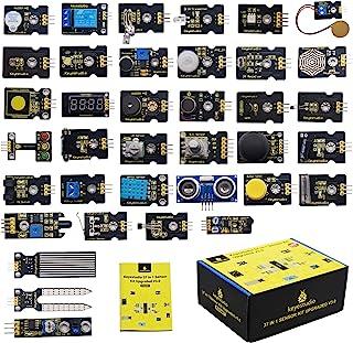 KEYESTUDIO 37 in 1 Sensor Kit 37 Sensors Modules Starter Kit for Arduino Raspberry Pi Programming Project, Electronics Com...