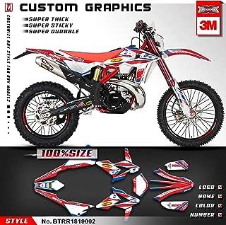 Kungfu Graphics Custom Decal Kit for 2018 2019 Beta 250 300 350 390 430 480 RR, Red White