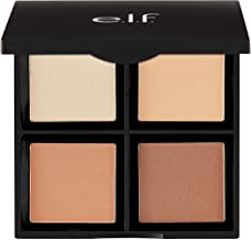 e.l.f. Contour Palette, 4 Powder Shades, Bronzer & Shader, Light/Medium, 0.56 oz.