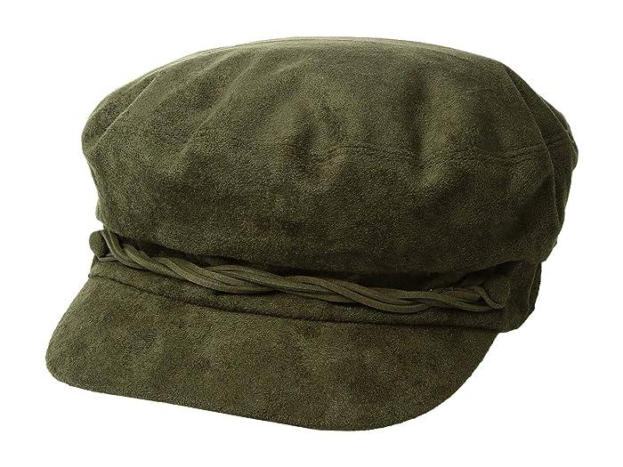 1960s – 70s Style Men's Hats Betmar Lieutenant Cap Olive Caps $19.00 AT vintagedancer.com