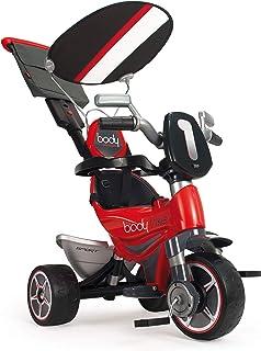 INJUSA (325 Triciclo Infantil Body Sport Evolutivo con Control Parental de Dirección para Niños +10M, Color Rojo, 12m