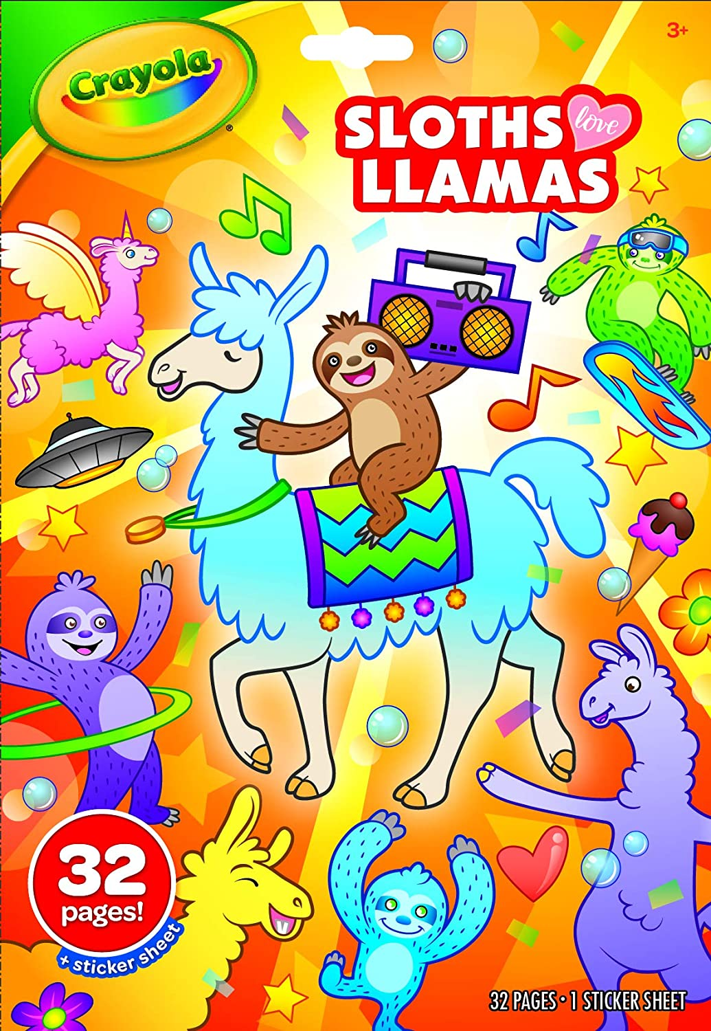 Crayola Don't miss the campaign Sloths Love Sale Special Price Colouring Book Llamas