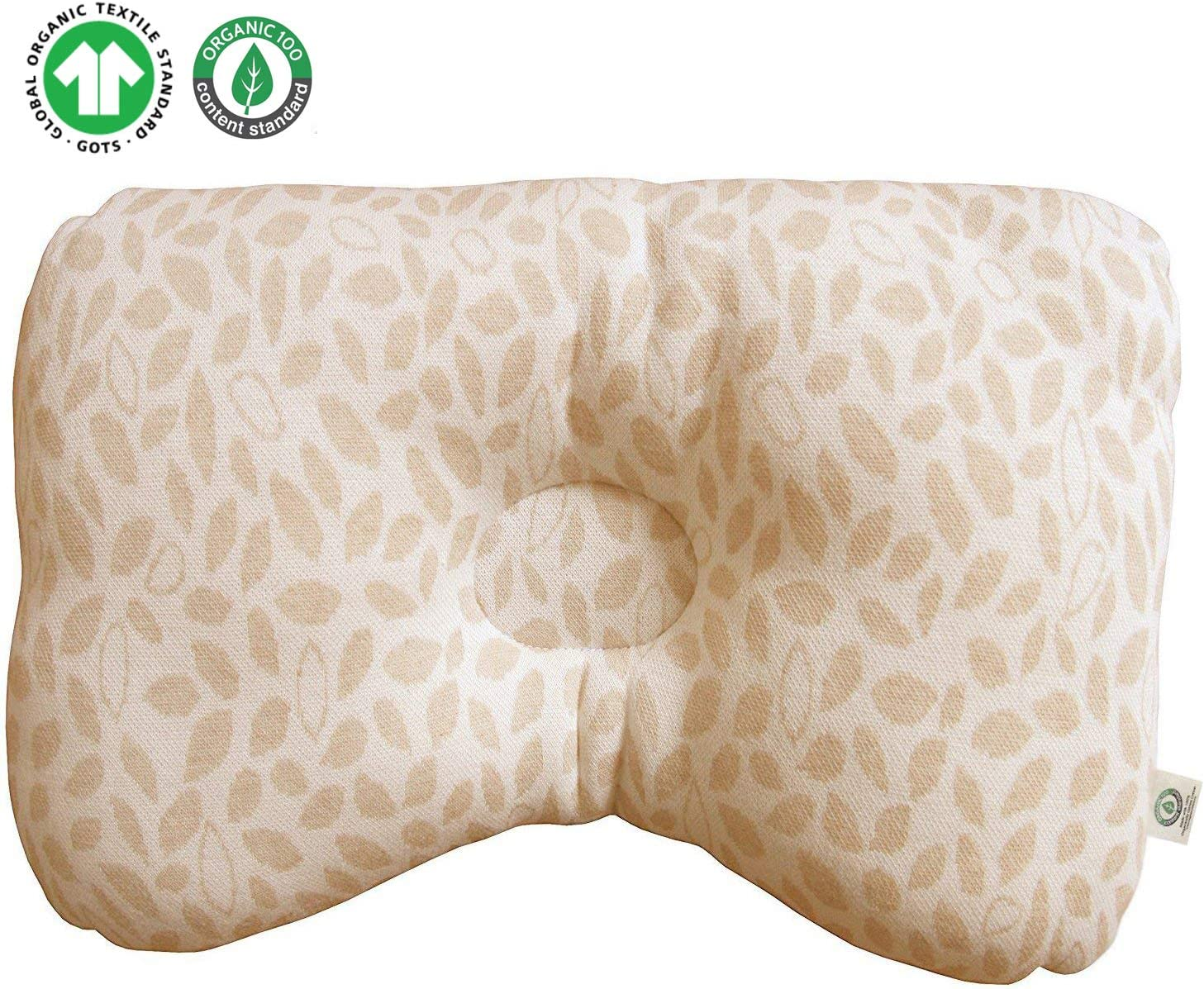 No Bleaches Global Certified Organic Cotton Baby Pillow No Printing Cloud Lamb Protection for Flat Head Syndrome