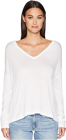 Drop Shoulder V-Neck