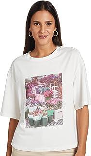Vero Moda Women's FAIRY SHORT-SLEEVE BOXY T-Shirt