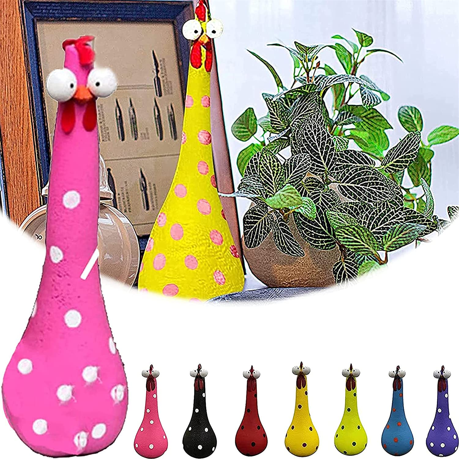 Silly Chicken Decor Resin Ornaments New Free Shipping Statu Outdoor Ranking TOP20