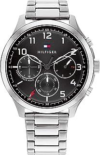 ساعة اشر بمينا اسود للرجال من تومي هيلفجر - 1791852