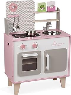 comprar comparacion Janod- Macaron Cocina de Juquete, Multicolor, 53 x 30 x 78 cm (Jura Toys J06567)