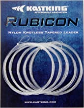 KastKing Rubicon Tapered Leaders Fly Fishing Line - Pre-Tied Loop - Abrasion Resistent for Freshwater or Saltwater - Wide Assortment, 7.5' / 9', Size 0X to 6X Available - 5 Pack / 6 Pack