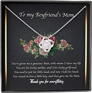 Boyfriend's Mom Necklace, Presents For Mother Gifts, Raise Boy Thank, Alluring Custom Dainty Chain Necklaces For Women, Mo...