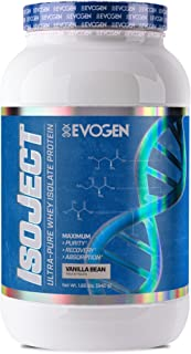 Evogen Isoject | Premium Whey Isolate w/ Ignitor Enzymes | Vanilla Bean | 28 Servings ...