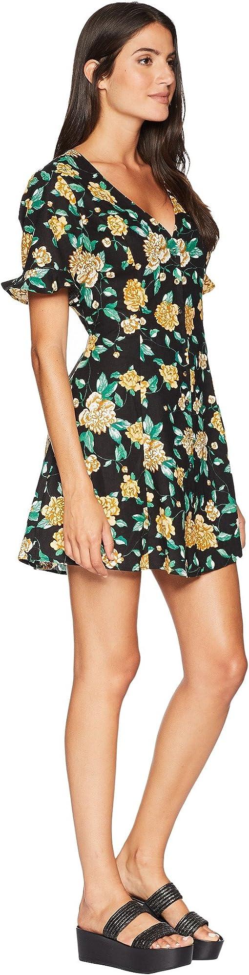Black/Marigold Floral