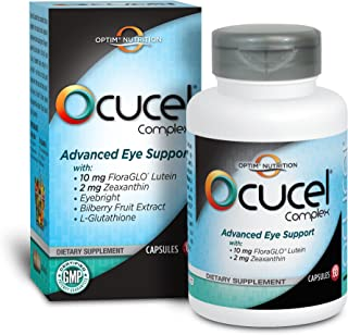 Optim Nutrition Ocucel Complex Advanced Eye Support Vitamins for Protection from Excessive Use of Computers and Cellphones, 60 Capsules