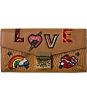 MCM - Patricia Love Patch Flap Wallet/Two-Fold Large