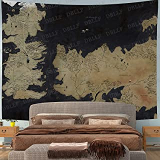 DBLLF Movie World Map Backdrop Tapestry for Photography Song of Ice and Fire Game of Thrones Background Wall Hanging,Fans ...