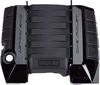 GM Accessories 92247656 6.2L Engine Cover in Black with Bowtie Logo