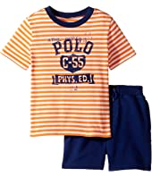 Ralph Lauren Baby - Yarn-Dyed Loft Jersey Graphic Shorts Set (Infant)