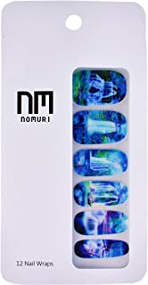 Nomuri Nail Wraps FAERIE FALLS! Easy Application, Long-Lasting, Phthalate Free, Acrylic Lacquer Design Fingernail Nail Polish Art for Beauty, Fashion, Makeup and Manicure (1, Faerie Falls)