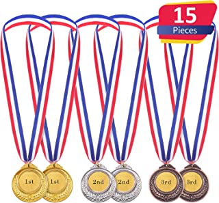 Medallas de Ganador de Metal en Estilo Olímpico de Color de Oro Plata Bronce para Juego y Fiesta (15)