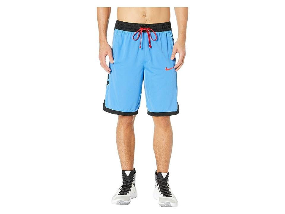 Nike Dry Elite Shorts Stripe (Pacific Blue/Black/Black/University Red) Men