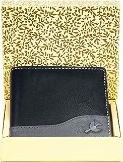 Hornbull Buttler Men's Black Genuine Leather RFID Blocking Wallet Valentine Gift for Men