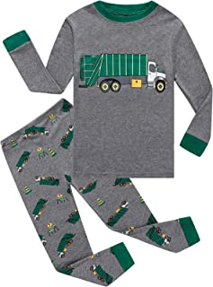 Boys Pajamas Long Sleeve Toddler Clothes Set Dinosaur 100% Cotton Little Kids Pjs Sleepwear