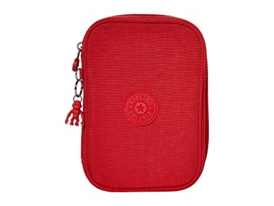 Kipling 100 Pens Case (Red Rouge) Travel Pouch