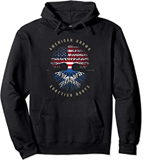 American Grown Scottish Roots Scotland Flag Pullover Hoodie