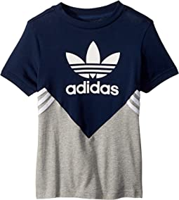 adidas Originals Kids Zigzag Trefoil Tee (Little Kids/Big Kids)