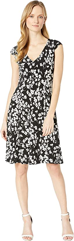 Printed Matte Jersey Spring Stem Dress
