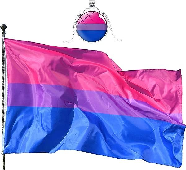 Eugenys 比骄傲国旗月个月脚免费漂亮的奖金包括看起来非常漂亮的两侧大同性恋双性恋标志黄铜垫圈完美横幅挂室内室外