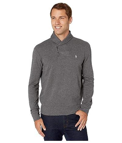 Polo Ralph Lauren Lux Jersey Shawl Collar Sweater (Medium Flannel Heather) Men