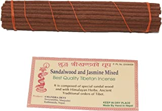 Tibetan Sandalwood Jasmine Incense Sticks for Meditation Organic Hand Rolled