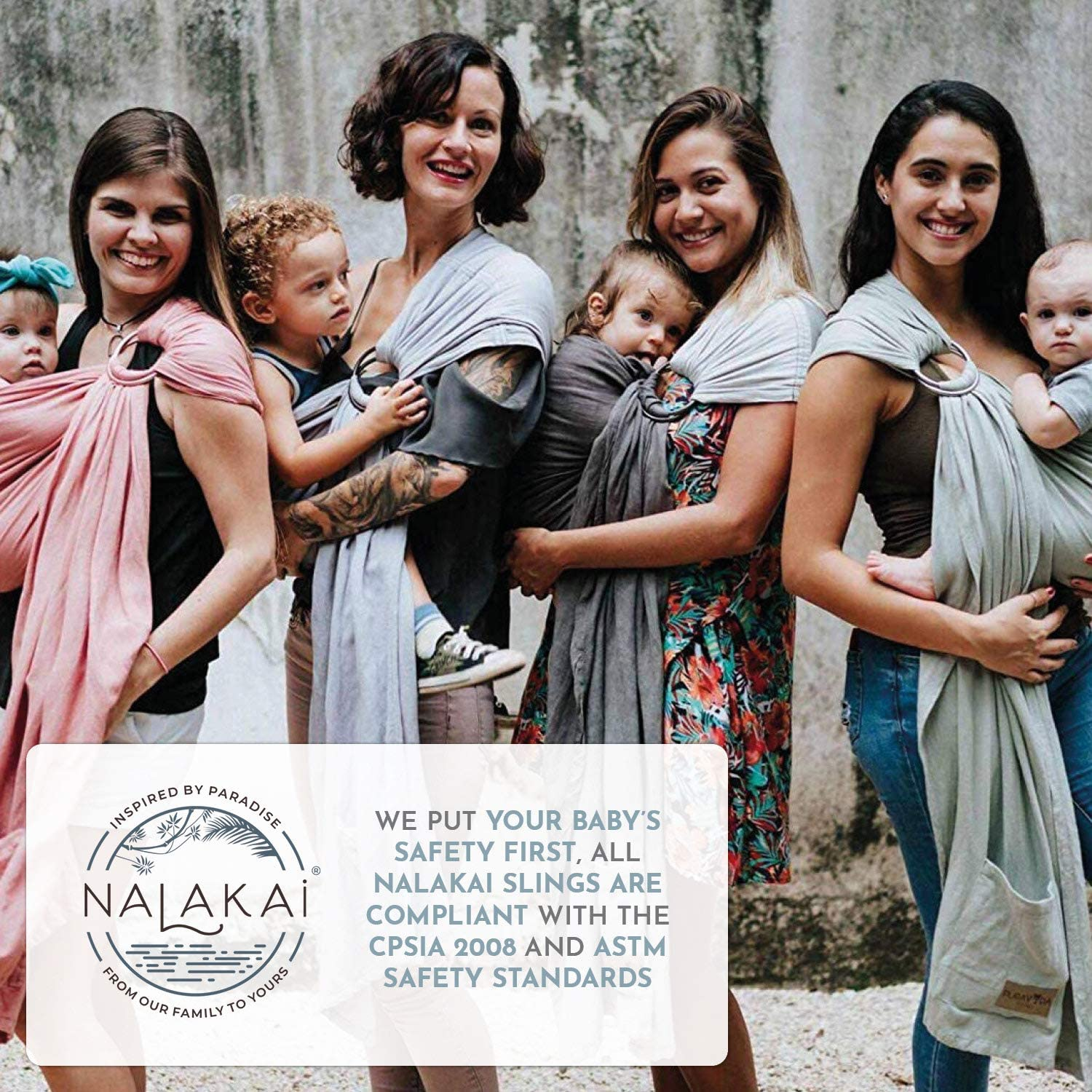 Nalakai Baby Sling Carrier Bamboo and Linen Baby Wrap Carrier for Newborn and Toddler