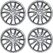 Tuningpros WC3-15-3533-S - Pack of 4 Hubcaps - 15-Inches Style 3533 Snap-On (Pop-On) Type Metallic Silver Wheel Covers Hub-caps